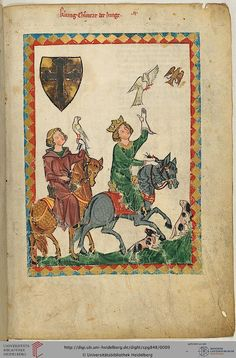 Codex Manesse, König Konrad der Junge, Fol 007r, c. 1304-1340