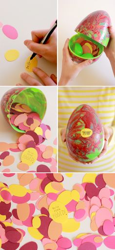 The House That Lars Built.: How to make a giant marbled Easter Egg care package