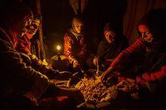 Eating couscous: Mitchell Kanashkevich