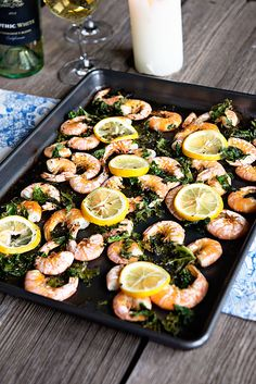lemon rice, lemon kale, food