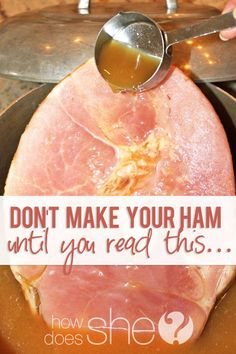 Don't make your ham until you read this… Bone-In Ham and Grandma's Ham Sauce Recipe...  Amazing! #Easter #Ham #Recipe