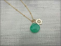 Ship Wheel Necklace. Be your own captain... by Love of Pretty: http://loveofpretty.com/shop/ship-wheel-necklace/