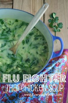 Thai Chicken Soup with Coconut Milk (+ Flu Fighter Stock)    (4 Points Plus Per 2 1/2 Cup Serving) soups, weight watcher, coconuts, thai chicken, eat better, fish recipes paleo, healthy chicken recipes, chicken soup, coconut milk paleo recipes