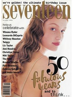 Supermodel Laetitia Casta sported a perfectly coiffed wavy hair with orange ombre tips on the October 1994 cover.