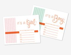 free printable baby shower invitation from isly.
