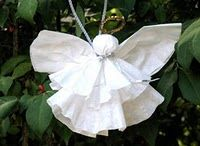 Christmas Club - coffee filter angel ornament - great for kid's craft