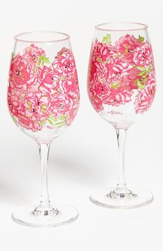 Drink wine, Lilly Pulitzer style.