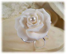 White Gardenia Pearl Ring