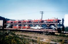 Corvettes on a train