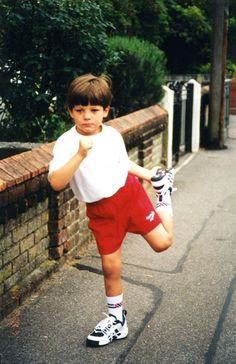 Little Louis getting fit (as in America, as in working out)...