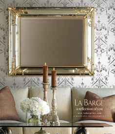 La Barge ad in Luxe magazine.