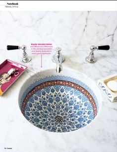 moroccan sink