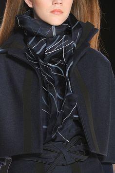 Carolina Herrera Fall 2012 - Details jacket, fashion weeks, style, carolina herrera, fw 2012, new york fashion, herrera fw, scarv, black
