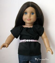 Use dollar store pet collars as belts for your doll.