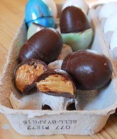 homemade peanut butter chocolate easter eggs