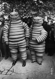 Vintage Michelin Man costumes, early 1900s