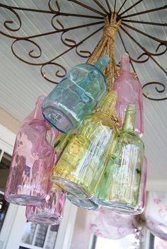 pastel bottles