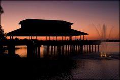 Sunset at Saracen Landing in Pine Bluff. #Arkansas