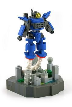 Micro Mech over Micro City by MacLane, via Flickr