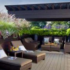 Garage roof top deck idea!