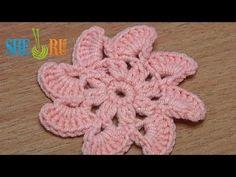 Crochet Flat Eight-Petal Flower Tutorial 25