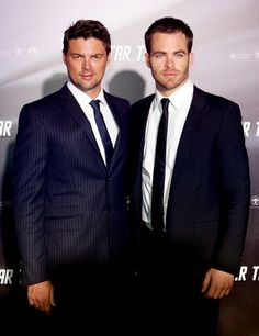 Karl Urban and Chris