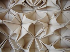 3D origami tessellation with fabric using folds & repetition to create a dimensional tiled pattern - fabric manipulation; innovative textiles design