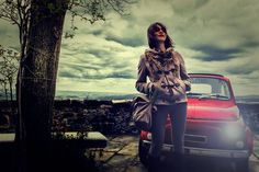 Fiat 500 lady