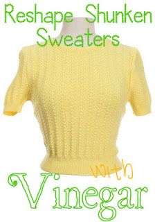 reshape shrunken sweaters