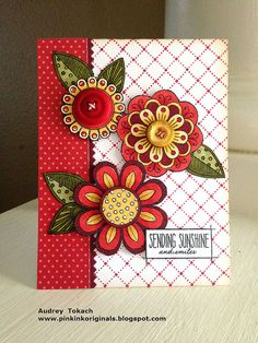 Red and Gold Doodles by momma_audrey, via Flickr