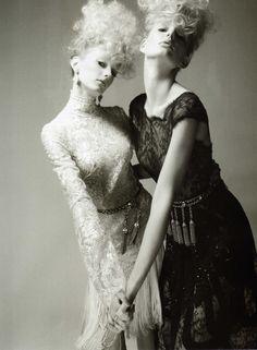 Just the Two of Us | Sigrid Agren & Patricia van der Vilet | Glen Luchford  #photography | Vogue Nippon June 2010