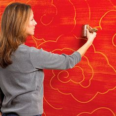 Give your walls the look of etched gold
