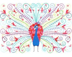 A3  - BLOOM - Fine Art Peacock Print