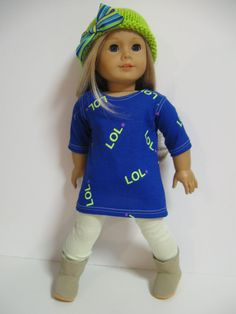 American Girl Doll Clothes  L O L by 123MULBERRYSTREET on Etsy, $28.00