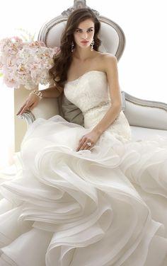 Trumpet wedding dress | via RedBird Paperie