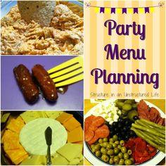 Party Menu Planning