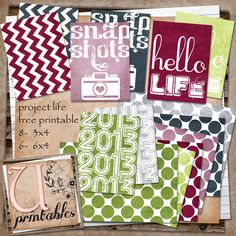 FREE Printable - Project Life Swamped