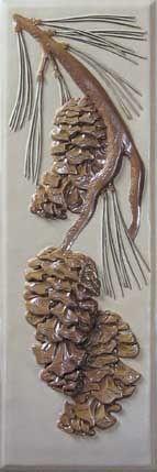 Pinecone tile by Norm Lewellen