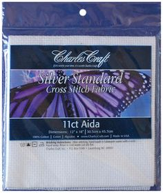 "Charles Craft Silver Label Aida, 11 Count, 12"" X 18"" - White $2.09"