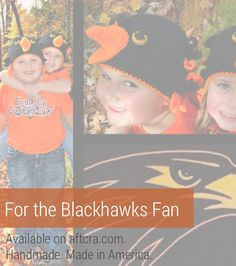 A gift for the Blackhawks fan – a crocheted Blackhawks winter hat to showcase your love. A great gift for the kid Blackhawks fan. Perfect for your next chilly game. Christmas gift, stocking stuffer, holiday gift, Christmas gift guide, Holiday gift guide. $35.00. http://aftcra.com/GloriasKraftsUnthreaded/listing/6670/crochet-blackhawks-hat