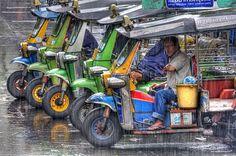 Tuk Tuks in Bangkok #Thailand