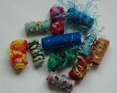 """an easy """"how to"""" for felt beads"""