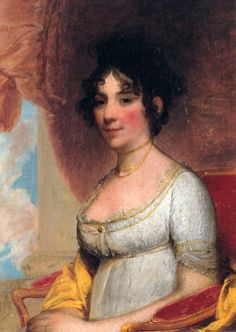"""Dolley Madison, American First Lady married to President James Madison. She received word that the British were going to invade Washington, D.C. Before the British could attack, Mrs. Madison saved important political documents and the portrait of George Washington. She loaded the items in her wagon and left. Once she returned to Washington and saw the destruction, she told the crowd awaiting her arrival, """"We shall rebuild Washington City."""""""