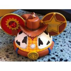 Disney Toy Story Woody Mickey Mouse Ears Hat Limited Edition Ornament