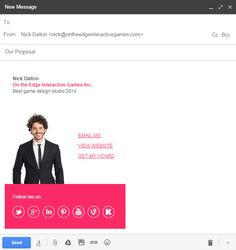 Send your Gmail with style, create a cool email signature for Gmail instantly with Email Signature Rescue - http://emailsignaturerescue.com/email-signatures-for-gmail