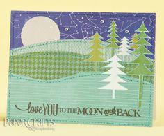Amanda Coleman - Paper Crafts & Scrapbooking May 2014: make cards, stamping, stitching, constellation