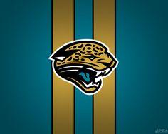 Jacksonville Jaguars Striped Wallpaper