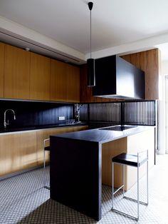 wood black kitchen island modern industrial