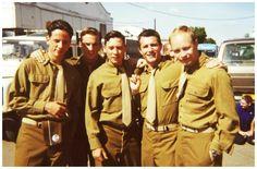 The cast: Ross McCall (Liebgott), Richard Speight Jr (Muck), Dexter Fletcher (Martin), Frank John Hughes (Guarnere) and Nicholas Aaron (Popeye Wynn)