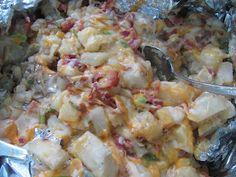 Three- Cheese Foil Pack Potatoes